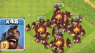 Clash Of Clans - NEW LEVEL 7 HOG SWARM RAID!!! (NEW UPDATE)