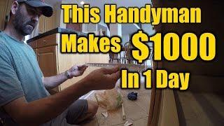 Video Handyman Makes $1000 in One Day | How He Does it | THE HANDYMAN | MP3, 3GP, MP4, WEBM, AVI, FLV Januari 2019