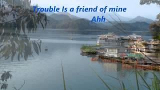 Lenka - Trouble Is A Friend +lyrics, 720P HD ,Taiwan Sun Moon Lake