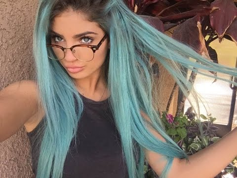 HOW TO DYE YOUR HAIR BLUE ♡