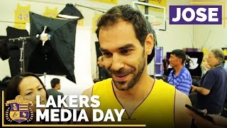 Lakers Media Day 2016: Jose Calderon by Lakers Nation