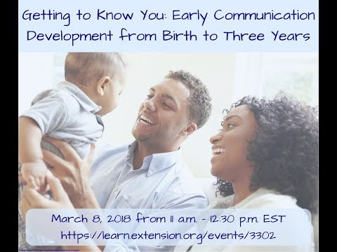 Getting to Know You: Early Communication Development from Birth to Three Years