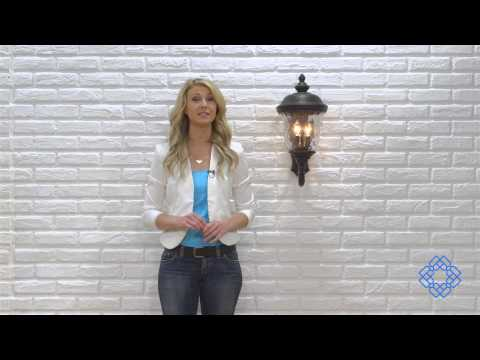 Video for Carriage House Oriental Bronze Two-Light Outdoor Wall Mount with Water Glass