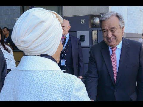 سمو الشيخة جواهر القاسمي تزور مقر المفوضية الرئيسي في جنيف
