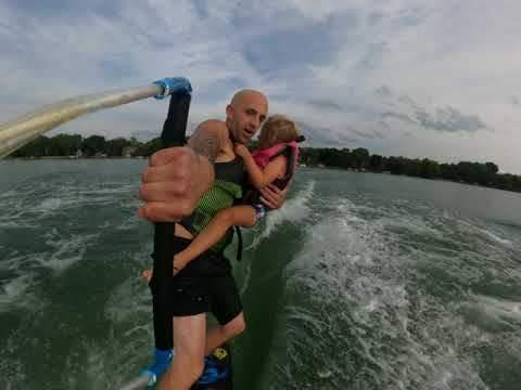 Dad Goes Wakeboarding With Daughter