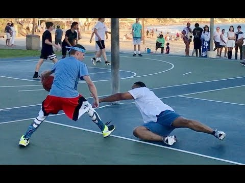Professor vs Trash Talker 1v1 for $100.. EPIC beach court (видео)