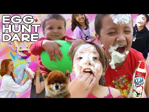 The Skylander Familys' Crazy Easter Egg Hunt w/ Whip Cream! (Eggtivities part 1 of 3)