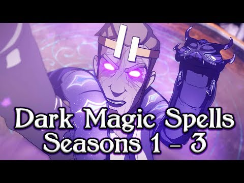 The Dragon Prince ALL Dark Magic Spells Reversed/Translated in Seasons 1-3!