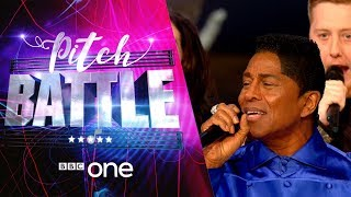Pitch Battle website: http://bbc.in/2tspn3j Sgarmes sing 'I'll Be There'. Featuring their Superstar Guest Judge Jermaine Jackson.