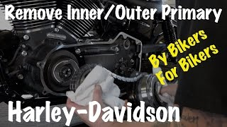 5. Harley Inner & Outer Primary Housing, Clutch, Compensator Sprocket, Chain Removal-DIY