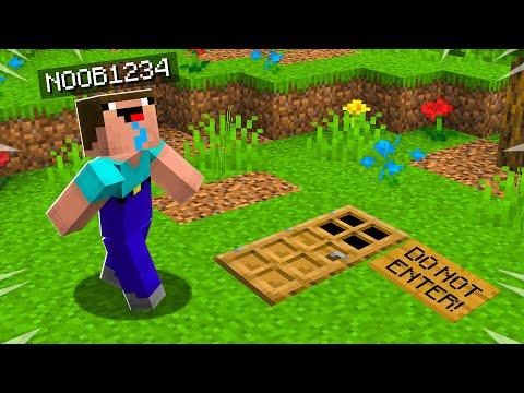 I found Noob1234's SECRET Minecraft House!