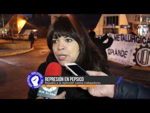 Movilizacion por represión a trabajadores de Pepsico y carta abierta al Presidente
