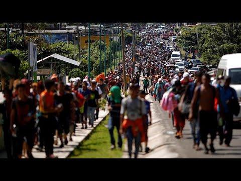 US-Präsident Trump droht mit Militär: Migrantenmarsch ...