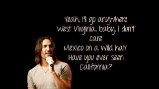 Anywhere With You by Jake Owen, with lyrics on screen. No copyright infringement intended. Enjoy! :) ~Sabrina.