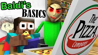 BALDI'S BASICS BECOME CRAZY TEACHER in Monster School - Minecraft Animation