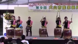 犬山太鼓クラブ「響」の演奏(犬山市産業振興祭)