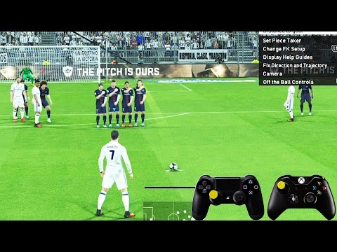PES 2017 Free Kick Tutorial | Xbox & Playstation | HD 1080p