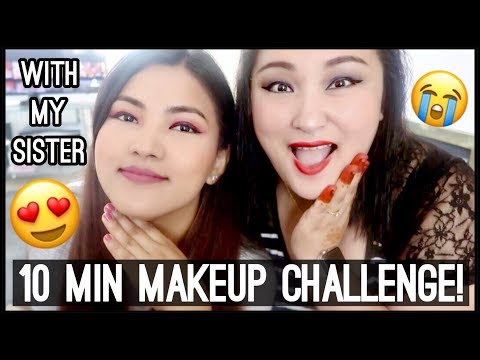 (10 MINUTE MAKEUP CHALLENGE ft. My Sister - Day #136 - Duration: 14 minutes.)