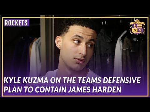 Video: Lakers Post Game: Kyle Kuzma Talks About the Teams Approach to Defending James Harden