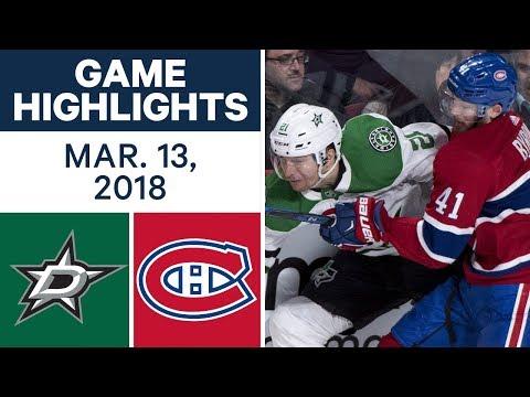 Video: NHL Game Highlights | Stars vs. Canadiens - Mar. 13, 2018