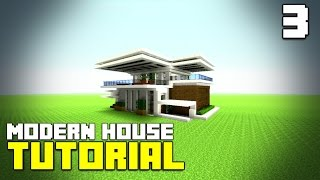 MINECRAFT: How To build A Modern House / Best Modern House 2016 (HD) MCTutorial #3