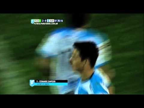 Gol de Zampedri. Ferro 2 – Juventud 1. Fecha 31. Primera B Nacional 2015. FPT.