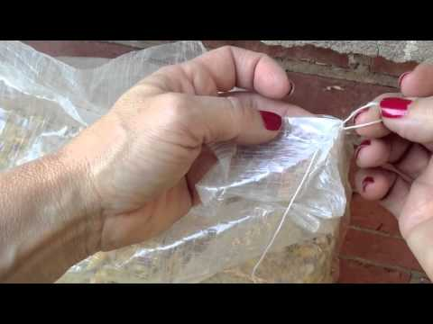 How to open those annoying strings on potatoe bags.