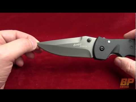 CRKT Crawford Kasper Folding Knife - Black Plain