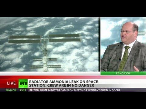 Leak - There's been a leak at the International Space Station, but NASA says there's no danger to the crew. RT's Sean Thomas tells about this - READ MORE: http://on...