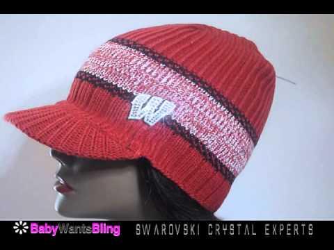 Wisconsin Badgers Swarovski Crystal Rhinestone Bling Ladies Knit Beanie Hat Cap