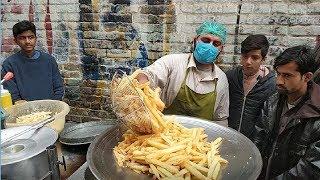 Asad Ullah Chips Gul Haji Plaza Peshawar |Finger Chips In PAKISTANI STREET FOOD