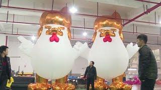 مصنع صينى ينتج بالونات للديك ترامب