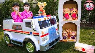Video หนูยิ้มหนูแย้ม | ขับรถพยาบาลช่วยเด็ก Pretend play and Ride-on the Ambulance MP3, 3GP, MP4, WEBM, AVI, FLV April 2019