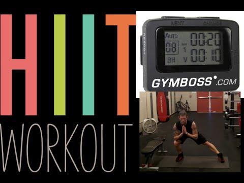 20 Minute HIIT Tabata Workout   GYMBOSS WORKOUT