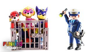 Paw Patrol Get the Pups Out of Jail with Help of Fidget Spinner - Learn Colors Videos For Kids