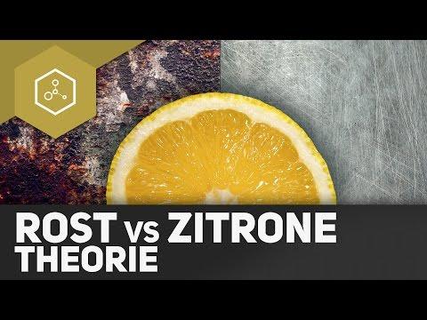 Rost entfernen mit Zitronensäure - Wie funktioniert's? Die Theorie