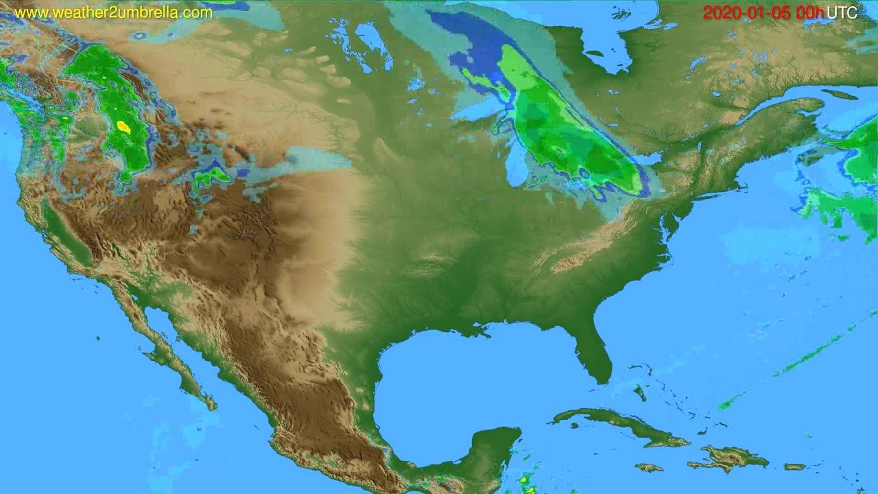 Radar forecast USA & Canada // modelrun: 12h UTC 2020-01-05