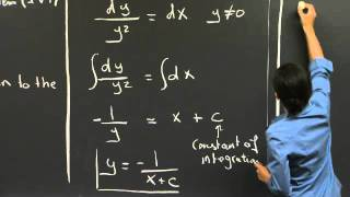 Separable Equations | MIT 18.03SC Differential Equations, Fall 2011