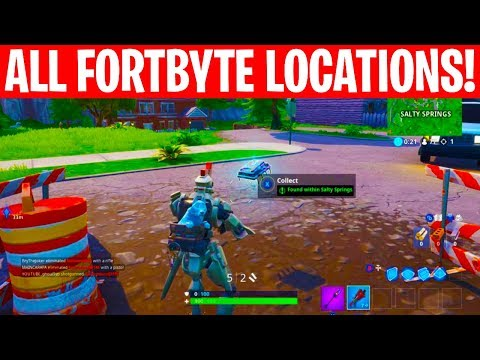 All Fortbyte Locations! 1-100 FORTBYTE Hidden Rewards! -Fortnite Battle Royale