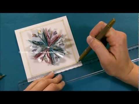 Gefaltete Blume aus Geldscheinen