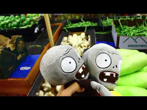 Plants Vs. Zombies Plush: Peashooter And Paco's Adventure- Supermarket