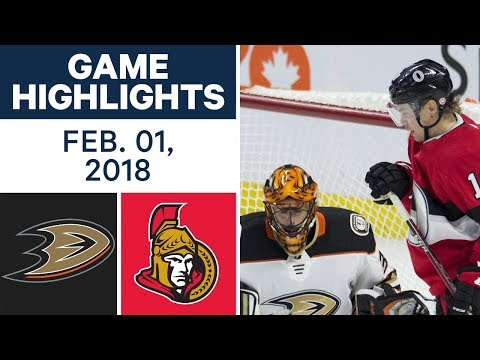 Video: NHL Game Highlights | Ducks vs. Senators – Feb. 1, 2018
