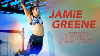 Jamie Greene, fourth-place finisher at this year's Meridian Regional, is headed to the CrossFit Games in Madison, Wisconsin. After competing with her team, CrossFit Yas, and finishing in third place at the 2016 Games, Greene will try her hand at the individual competition.Watch her blast through a workout with toes-to-bars, wall-ball shots, burpee box jump overs and dumbbell snatches.CrossFit® - Forging Elite Fitness® (http://crossfit.com)The CrossFit Games® - The Sport of Fitness™The Fittest On Earth™