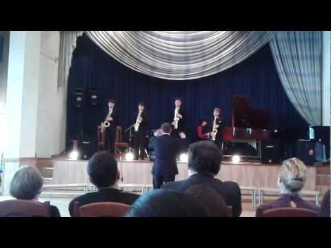 Glenn Miller - Moonlight Serenade ансамбль саксофонистов в ДМШ 79 им. Ф Листа (видео)