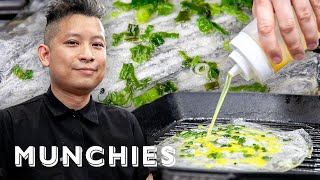 How To Make Vietnamese Pizza aka Bánh Tráng Nuong with Di an Di by Munchies