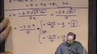 College Algebra - Lecture 17 - Equations In One Variable