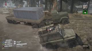 SpinTires Mud Runner: PC MULTIPLAYER Let's Play, Part 1! | GARAGE UNLOCKED!