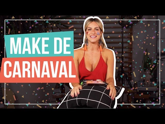 APRENDA UMA MAKE RAPIDINHA COM GLITTER PARA ARRASAR NO CARNAVAL | GIOH - Giovanna Ewbank