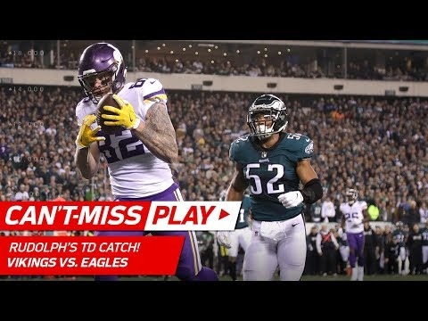 Video: Keenum Hits Rudolph for TD & Celebrates w/ Olympic Curling! | Can't-Miss Play | NFC Championship HLs