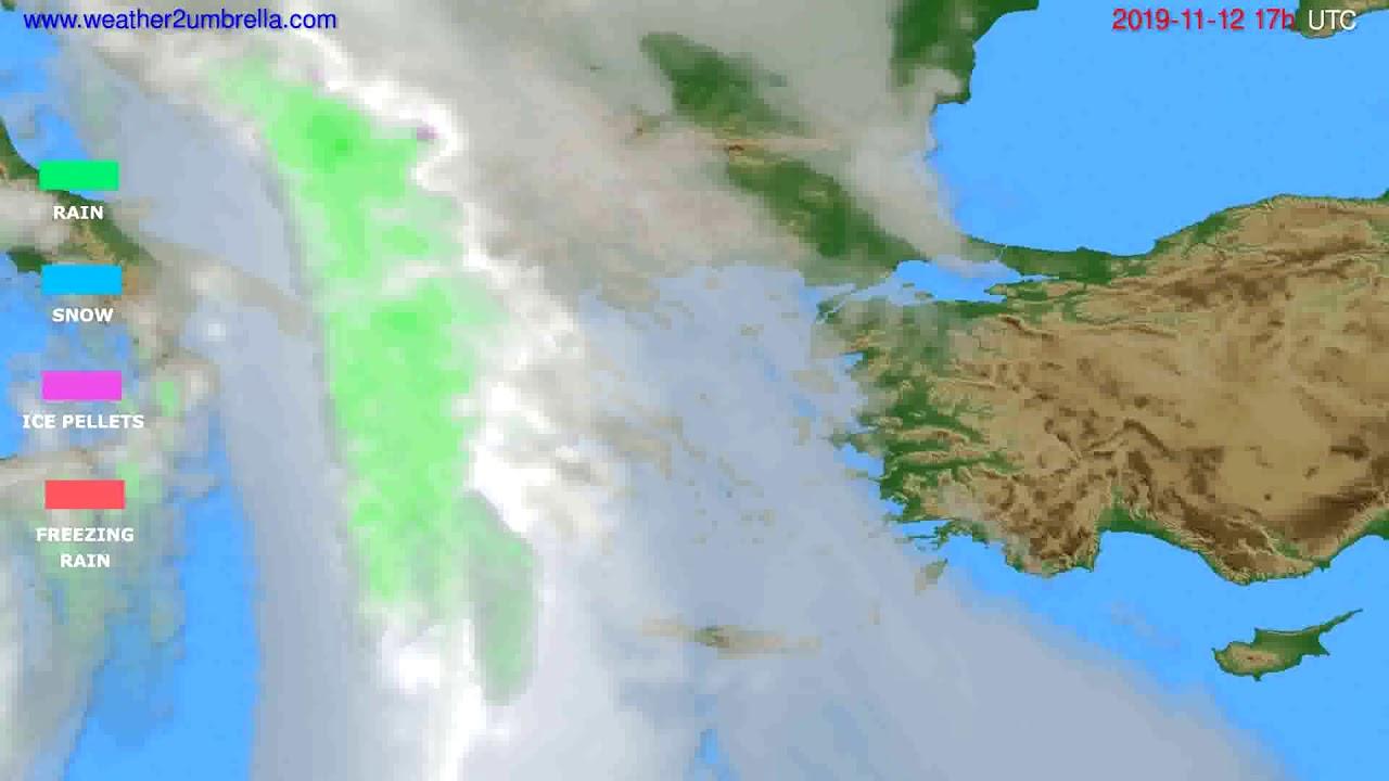 Precipitation forecast Greece // modelrun: 00h UTC 2019-11-11